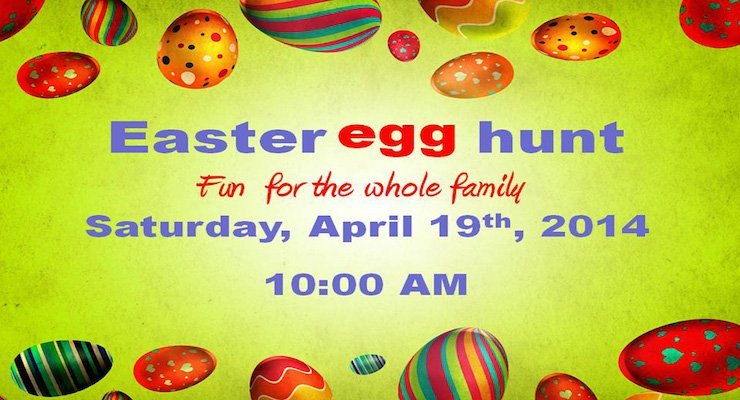 Easter Egg Hunt: Saturday, April 19 at 10am